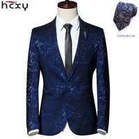 HCXY 2017 새로운 도착 럭셔리 남성 재킷 새로운 봄 패션 브랜드 높은 품질의 웨딩 정장 슬림 맞춤 남성 정장 재킷 남성 블레이져