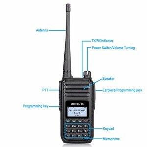 Image 3 - RETEVIS RT80 Ham راديو DMR المذياع اللاسلكي الرقمي 5 واط UHF VOX FM راديو المحمولة اتجاهين راديو Amador التناظرية/الرقمية جهاز الإرسال والاستقبال