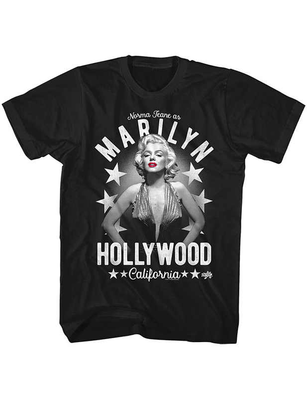 Awesome Shirts Crew Neck Short-Sleeve Graphic Norma Jean As Marilyn Hollywood Tees For Men