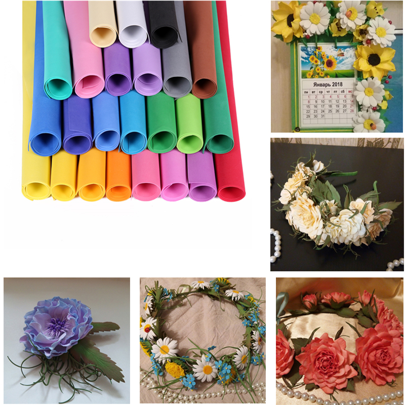Free Shipping Scrapbooking Crafts Paper EVA Sponge Foam Paper For Flowers Background DIY Gift Card Decor 10pcs/ Lot