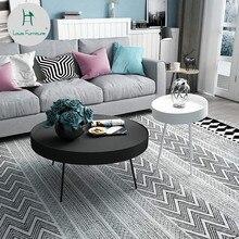 Луи Мода Северной Европы Современная гостиная диван угловой небольшой Простой Творческий пространство Железный Арт Круглый Чайный Столик