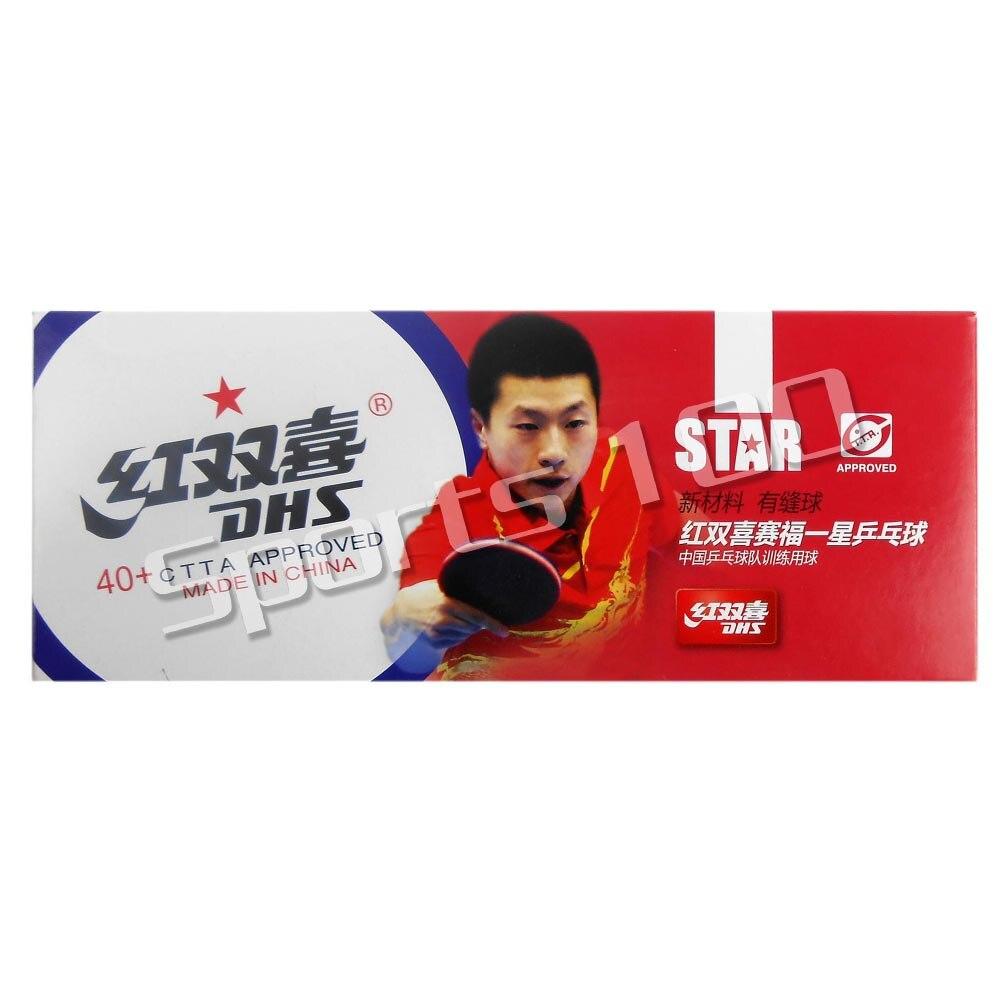 10x DHS 40+ New Materials 1-Star 1 Star 1Star White Table Tennis PingPong Balls 2015 Factory At A Loss Direct Selling