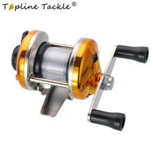 Topline Tackle Mini Metal Bait Casting Spinning Reel Ice Fishing Fish Water Wheel Baitcast for Freshwater