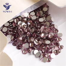 YANRUO 2058NoHF SS16 Light Amethyst 1440Pcs Strass Non Hot Fix Glass Stone Crystal Flat Back Rhinestones Stick On Nails