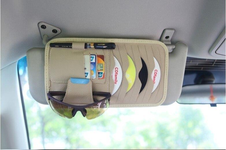 8pcs Disks Car CD Holder Auto Visor DVD Disk Card Case Clipper Bag Car Styling Interior