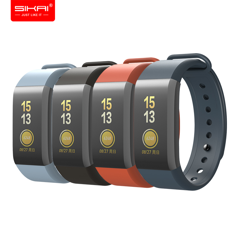 Wrist Strap for Amazfit Cor Band for Xiaomi Huami smart fitness bracelet Wristbands Accessories Black SIKAI Silicone A1702 in Smart Accessories from Consumer Electronics