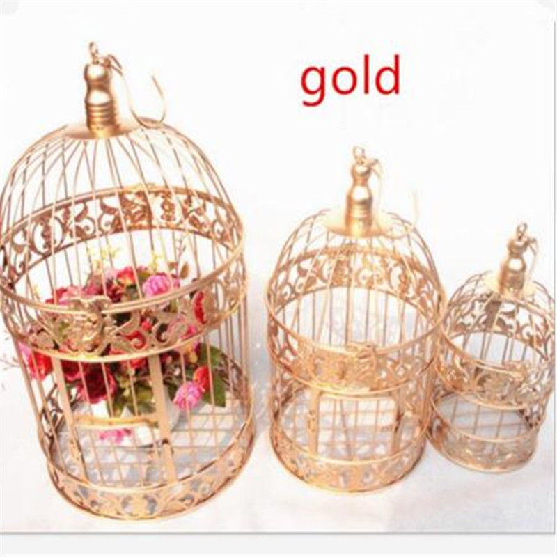 XS S M  European Style Decorative Bird Cage / Window Ornaments / White Photography Props / Hotel Wedding Cage