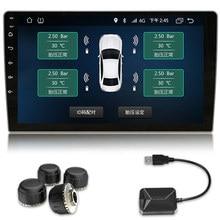 Android TPMS шин Давление мониторинга Системы для автомагнитол автомобиля Multimedia Stereo GPS навигации DVD Радио аудио