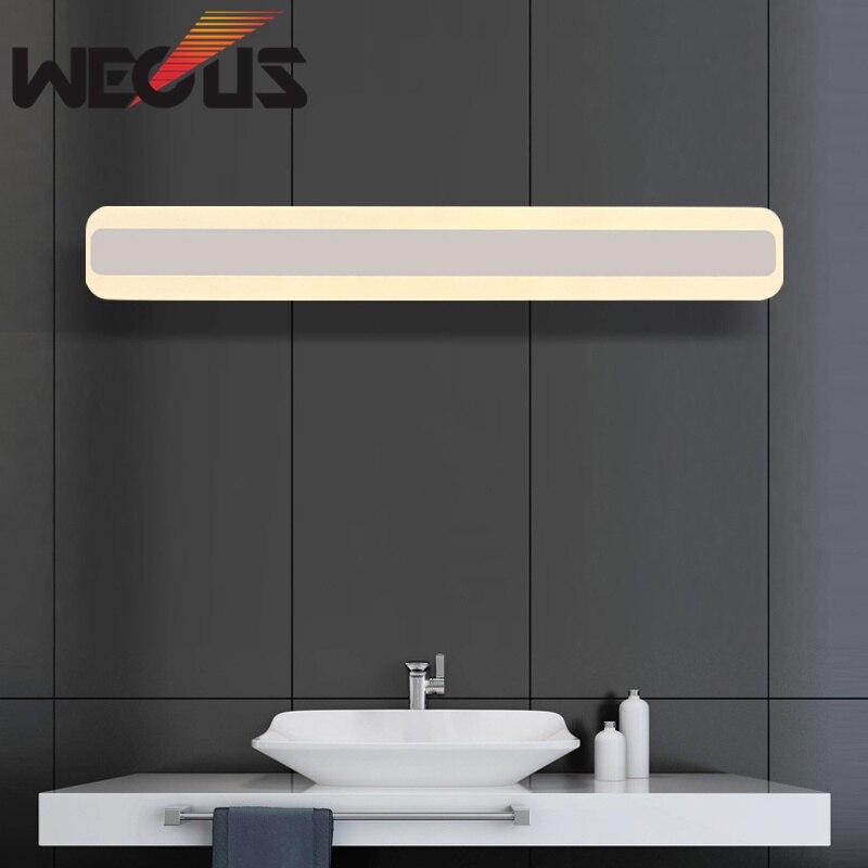 Us 1658 39 Offstylowe 500mm Akrylowe Lustro ściana światło 85 265 V 16 W Led łazienka Lampa Sypialnia Oświetlenie W łazience Hotel Bar Korytarz