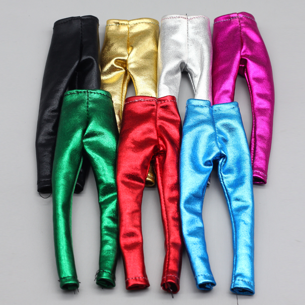3pcs/lot High Quality Fashion Candy Color Pants For Barbie Doll Clothes As For 1/6 BJD Blyth Doll Accessories