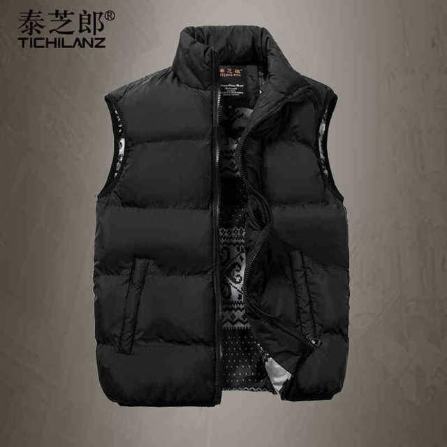 Men ' s chaquetas de invierno , además de terciopelo grueso abrigos de invierno de algodón chaleco de corea del invierno abrigos chaquetas sólidos delgado para hombre del chaleco ocasional abrigos