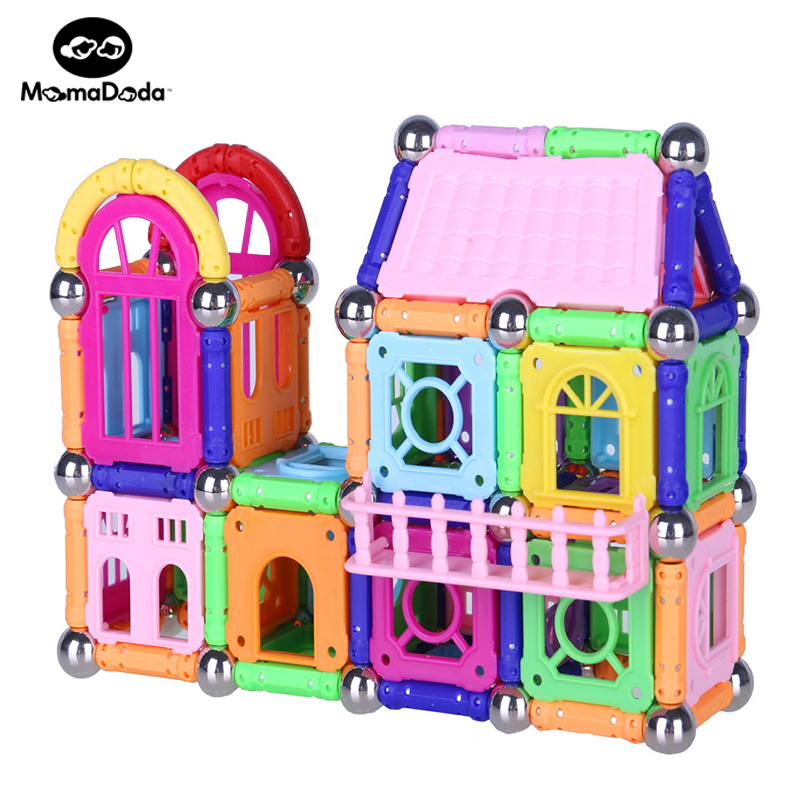 438 piezas bloques de construcción magnéticos bolas de Metal diseño de juguetes de construcción aprendizaje educativo DIY Castillo niños juguetes regalo-in Bloques from Juguetes y pasatiempos    1