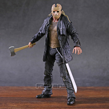 "NECA 2009 Deluxe Auflage Friday The 13th Jason Voorhees 7"" Action Figure Model Toy"