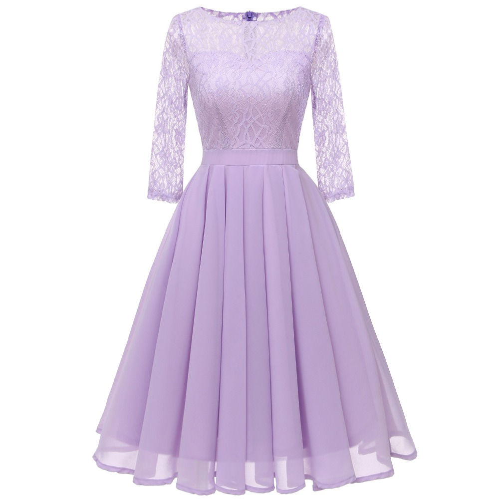 Sisjuly Retro Evening Party Violet Purple Light Green Beige Pleated Dress Women Spring Fall Winter Floral Lace Chiffon Dresses