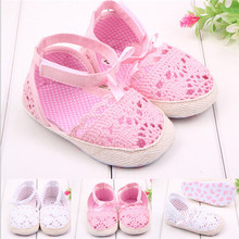 Lovely Summer Butterfly-Knot Solid Baby Shoes First Walkers