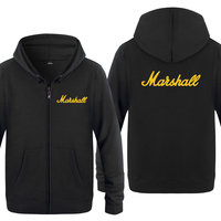 The Marshall Music Rock Hip Hop Sweatshirts Men 2018 Mens Zipper Hooded Fleece Hoodies Cardigans