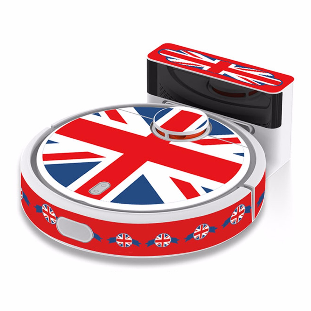 Free Shipping 1 Piece Replacement Flag Style Sticker for xiaomi MI Robot Vacuum Cleaner Beautifying Protective Film 2017 new red sky skin decal vinyl wrap for xiaomi robot cleaner mi robotic sticker slap protective film 17830 free shipping