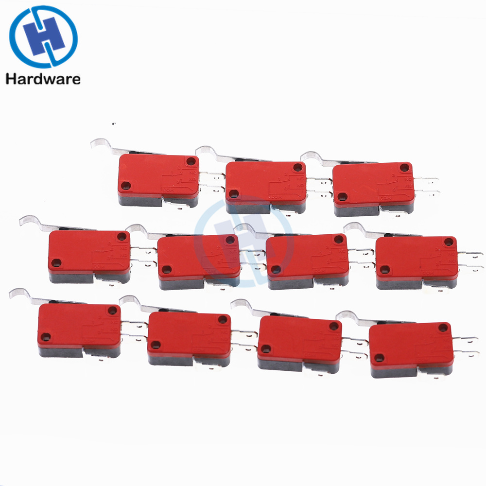 """10 pcs MINI Micro /""""R/""""  Hooked Lever Switch Open//Close 5A new"""
