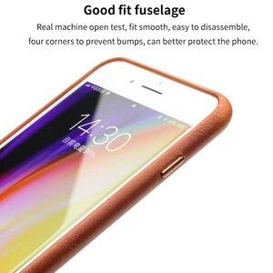 Image 4 - QIALINO Kinh Doanh Genuine Leather Cover Quay Lại cho iPhone 8 Cộng Với Siêu mỏng Tinh Khiết Điện Thoại Handmade Case cho iPhone 8 cho 4.7/5.5 inch