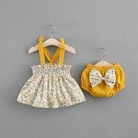 Новая одежда для новорожденных девочек платье без рукавов + трусы, комплект одежды из 2 предметов, милые комплекты одежды в полоску с принтом...