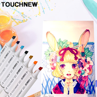 TOUCHNEW Art Anime Markers Set Double-headed For Drawing Markers Design stabilo School Supplies 30/40/60/80/168 Colors