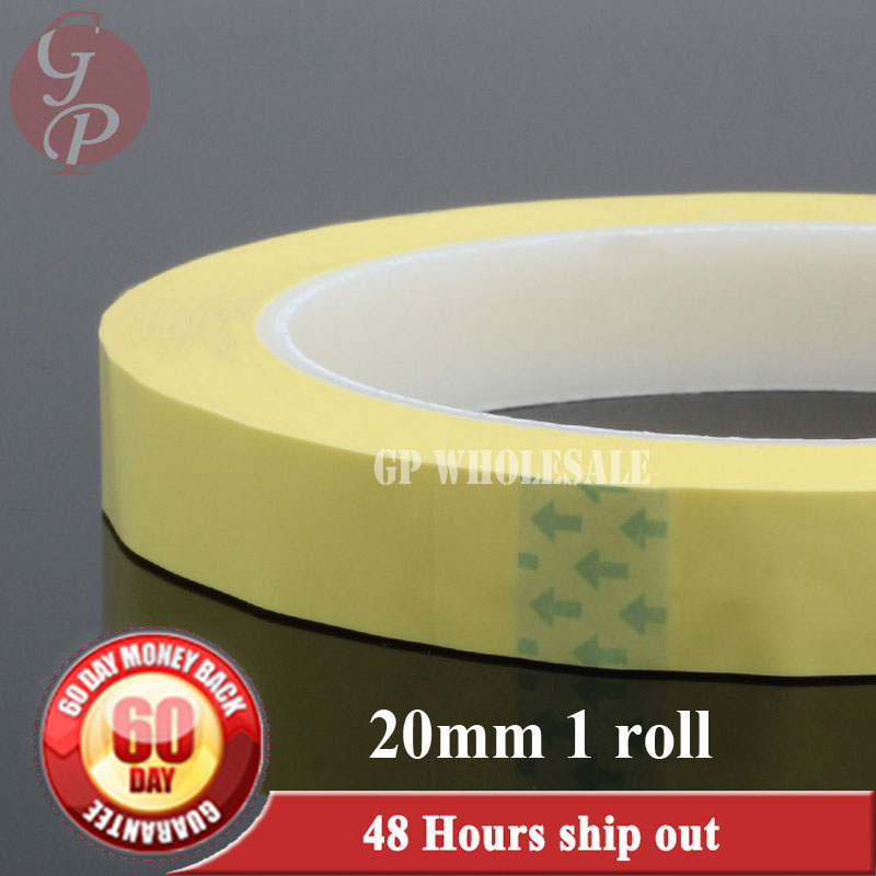 1 rolls 20mm*66M*0.06mm Yellow Sticky Insulating Mylar Tape for Transformer Power Supply Coil Wrap, Hi-Temp. Resist