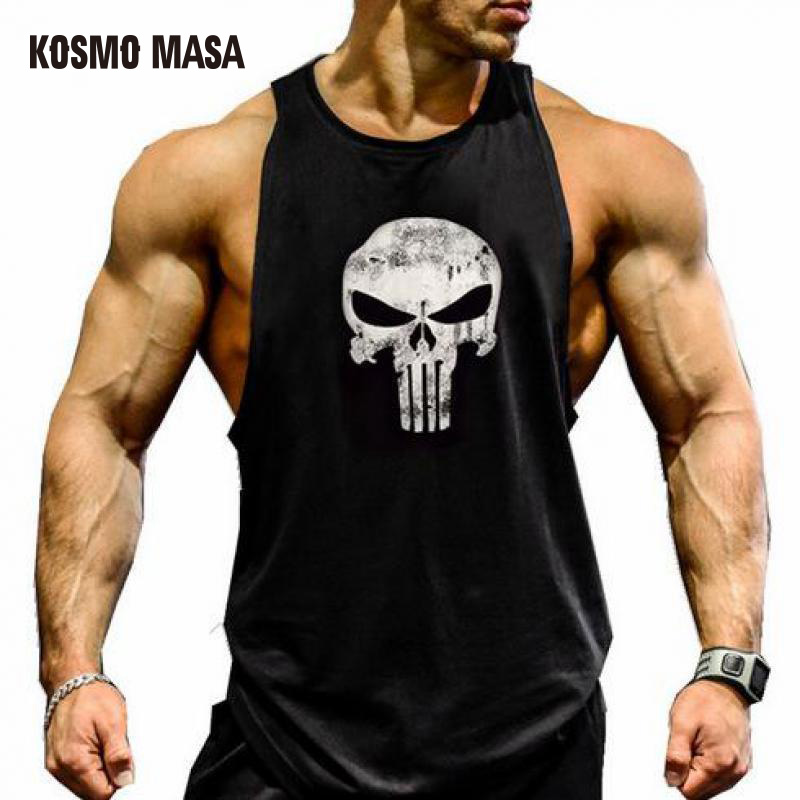 KOSMO MASA 2018 Skull Bodybuilding Fitness Stringer Men   Tank     Top   Golds Gorilla Wear Vest Undershirt   Tank     Tops   MC0303