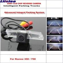 цена на Liislee Intelligent Tracks Backup Camera For Roewe 350 / 750 Car Reverse Parking Rear Camera / Dynamic Guidance Tragectory