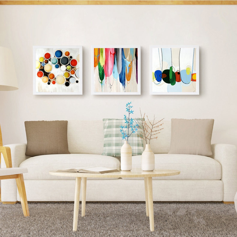Home Decor Oil Painting On Canvas Bright Colour On Canvas Wall Art ...