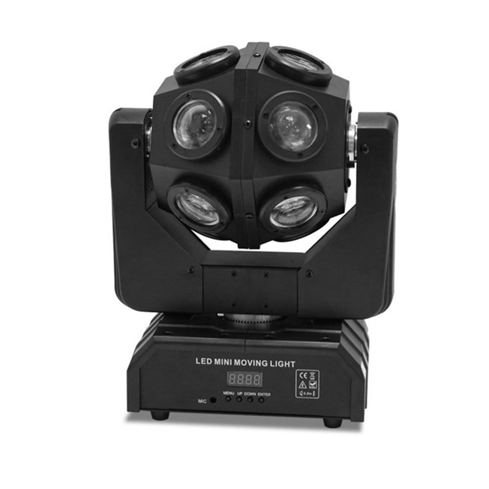 12X10W LED Beam Moving Head Light RGBW 4in1 Infinite LED Football Light DMX512 Unrestricted Rotation Beam