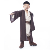 Child Super Deluxe Jedi Warrior Costume Kids Star Wars Fantasia Halloween Carnival Party Fancy Dress 4pcs