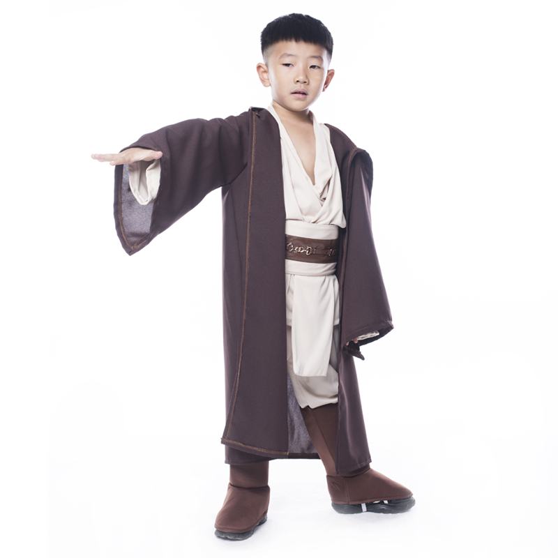 Hot Sale Boys Star Wars Deluxe Jedi Warrior Movie Character Cosplay Party Klær Kids Fancy Halloween Purim Carnival Kostymer