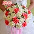 PE Artificial Flor de Rose ramo de Flores Ramo de la Boda ramo de Novia dama de honor y buque de noiva
