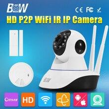 Bw ИК-ночного видения ONVIF Беспроводной IP Камера Wi-Fi видеокамеры P2P видеонаблюдения дома Камера Wi-Fi радионяня
