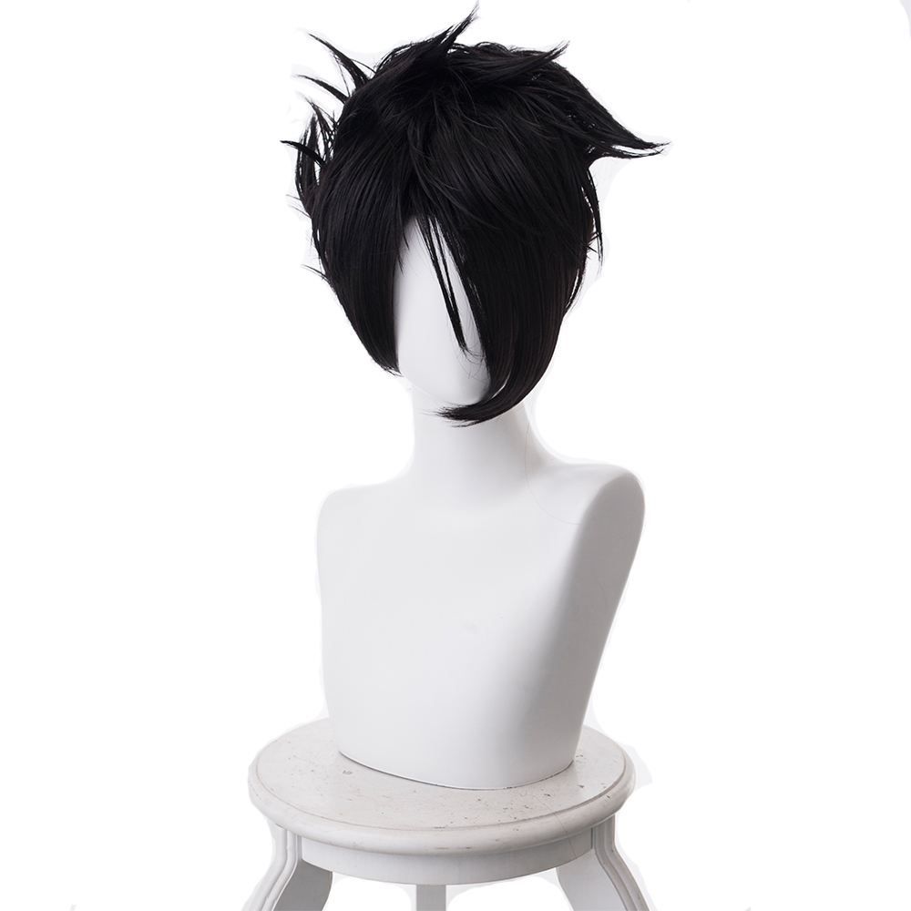 The Promised Neverland Cosplay Wigs Black Hair Synthetic Ray Wig