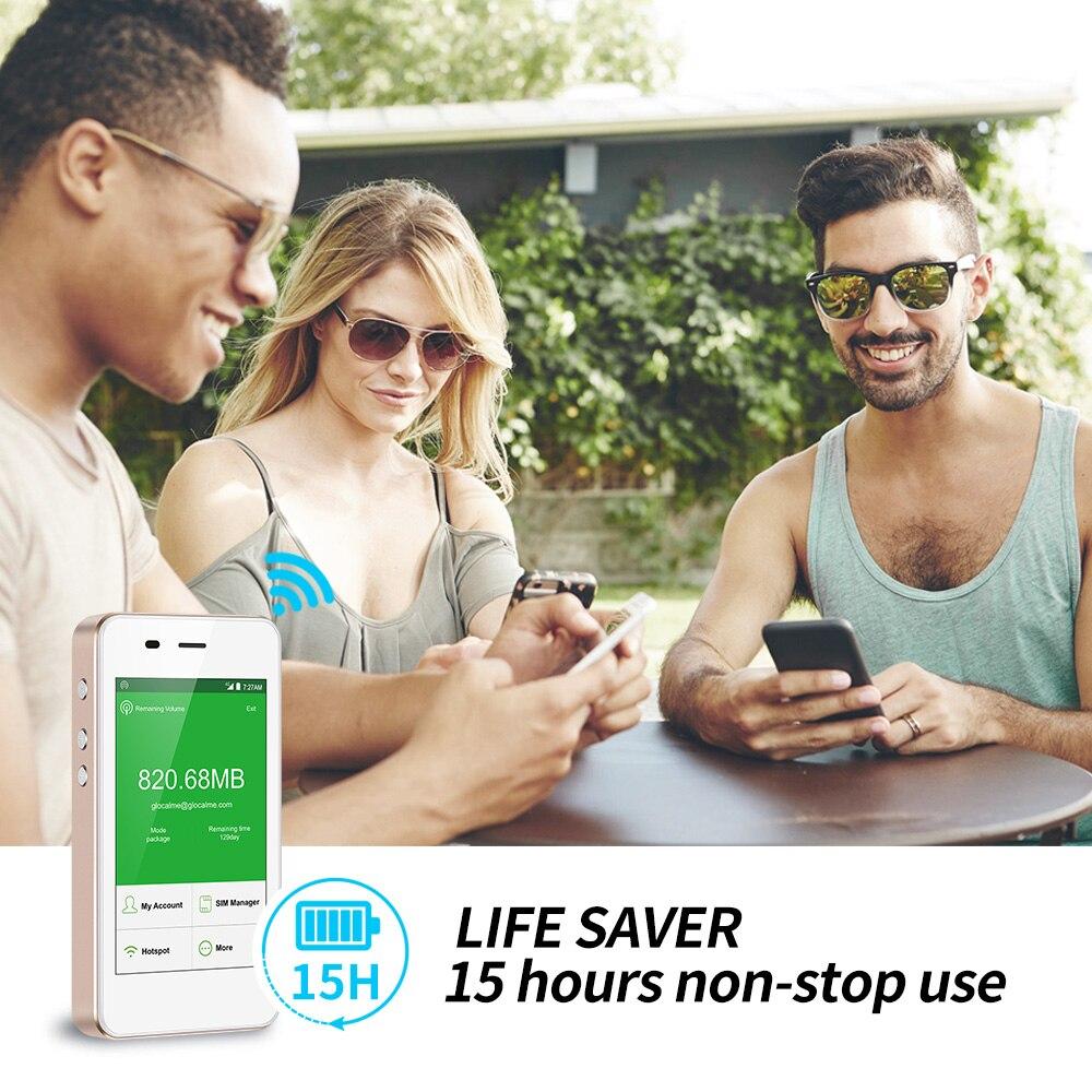 GlocalMe G3 4G LTE разблокированная Мобильная wifi точка доступа по всему миру Высокая скорость без SIM без роуминга плата Карманный Wi Fi гик произведен - 4