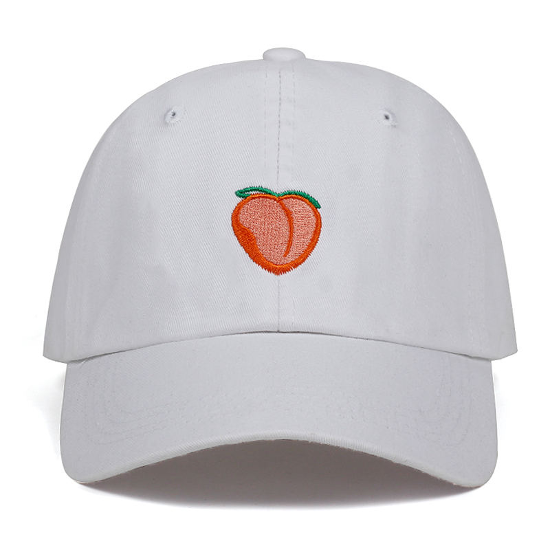 63eca9aeda83e 2018 New Dad Hat Leisure Fresh Fruit Cap Embroidery Hat Peach Baseball Cap  Women s cotton Hip hop snapback Baseball Cap hats-in Baseball Caps from  Apparel ...