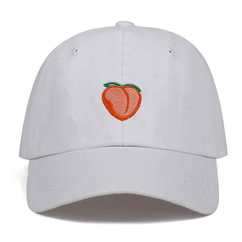 ... 2018 New Dad Hat Leisure Fresh Fruit Cap Embroidery Hat Peach Baseball Cap  Women s cotton Hip ... b703240f1