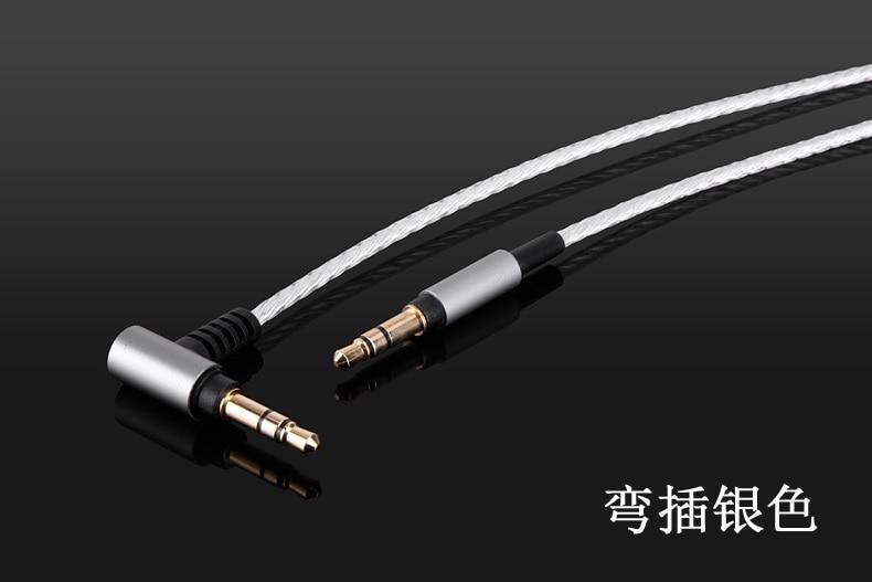 Silver Plated Audio Cable For Audio technica ATH-MSR7 SR5 SR5BT AR3BT AR3