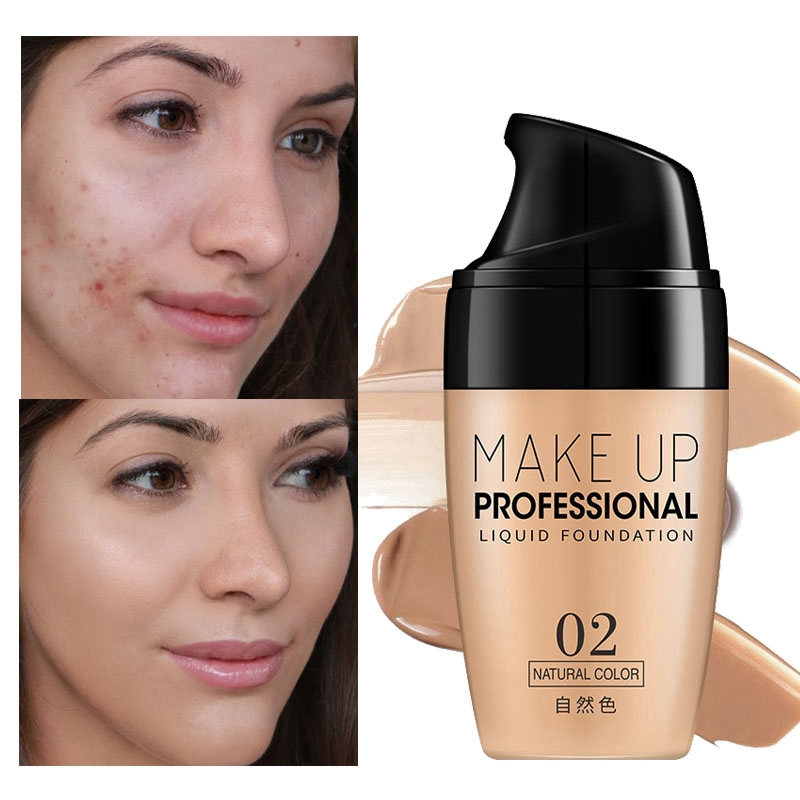 Face Foundation Cream Waterproof Long-lasting Concealer Liquid Professional Makeup Full Coverage Matte Base Make Up