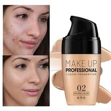 Crema per fondotinta viso correttore impermeabile a lunga durata trucco professionale liquido copertura completa Base opaca trucco