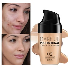 Face Foundation Cream Waterproof Long-lasting Concealer Liquid Professional Makeup Full Coverage Matte Base Make Up