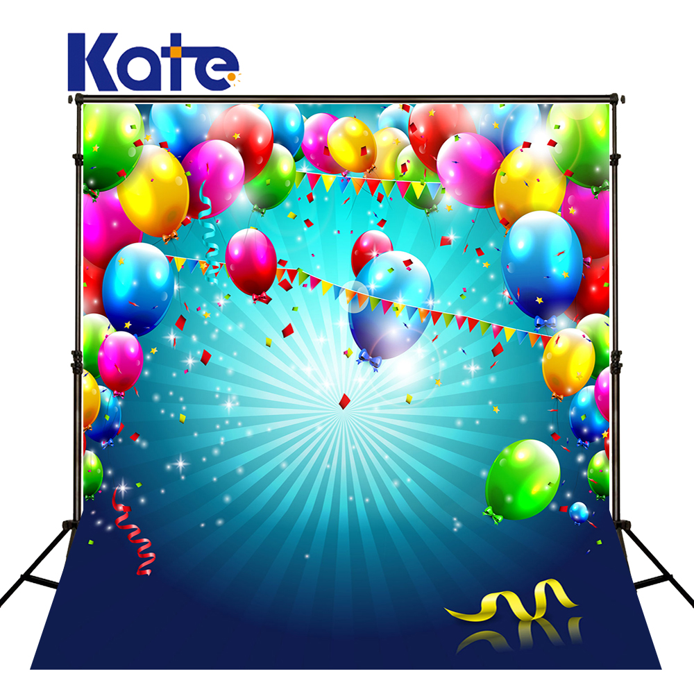 Kate Colorful Balloons Photography Backgrounds Children Backdrops Happy Birthday Photography Newborn Backdrop Stage Backgrounds happy birthday colorful flags birthday party outdoor custom photo backdrop photography backgrounds