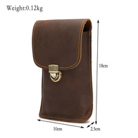 Doogee S55 Lite Men's leather wallet bag Europe and America retro cover case Oukitel C12 Pro Blackview BV6800 pro phone bag