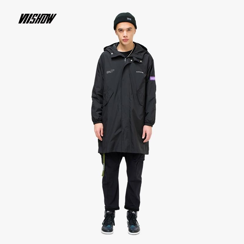 Viishow Solide Coupe-Vent trench-coat Hommes Marque Long Manteau Hommes Vêtements 2019 nouvelle mode Hommes de Manteaux et Coupe-Vent FC1086191