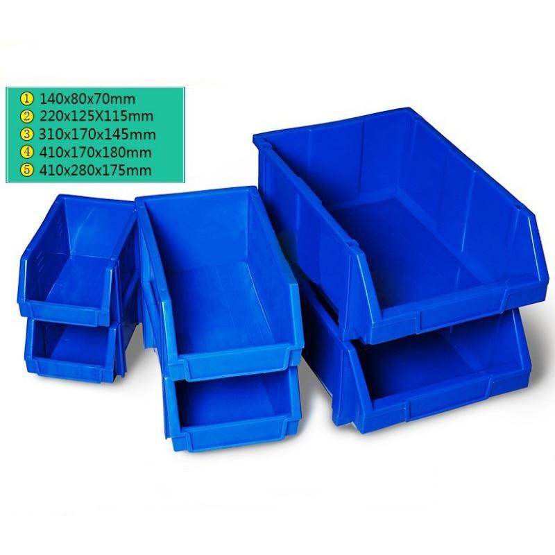 1 Pcs Bin Storage Rack Shelving Garage Storage Rack Tool Organiser Box Workshop Thickened combination Components box