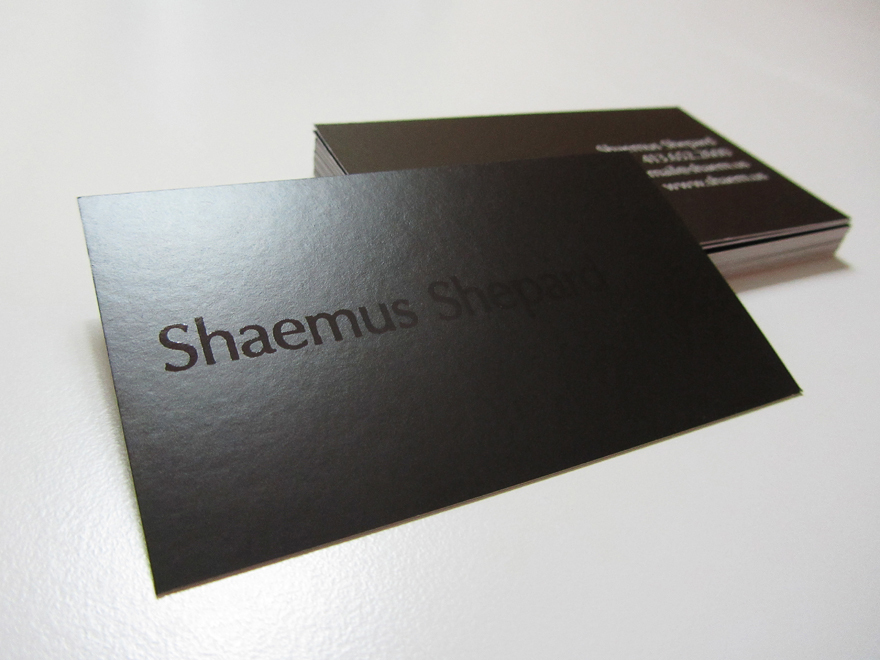 Simple Design UV Coated Paper Custom Business Cards Matte Lamination ...