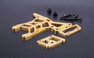 Image 5 - BAJA CNC Alloy Rear Oberen Anschluss Platte Set für 1/5 HPI ROVAN KM BAJA 5B 5 t 5SC Rc Gas teile