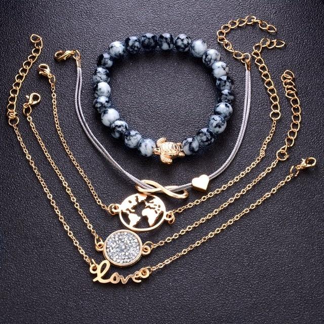 diezi богемный браслет с подвеской черепаха браслеты для женщин фотография