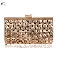 XI YUAN MERK luxe goedkoopste Dames nachtclub prinses handtassen volledige diamond crystal Minaudiere Dag Koppelingen portemonnee voor Bruid